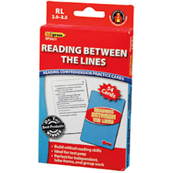Reading Between the Lines Reading Comprehension Practice Cards, Red Level  EducationalLearningGames.com