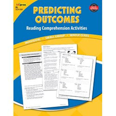 Reading Comprehension Activity Book, Predicting Outcomes, Reading Levels 3.5 - 5.0 EducationalLearningGames.com