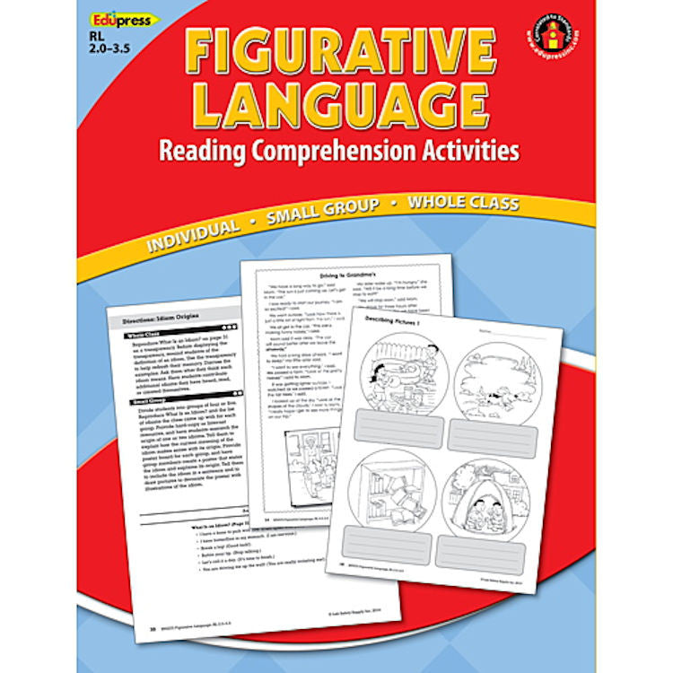 Reading Comprehension Book, Figurative Language, Reading Levels 2.0–3.5  EducationalLearningGames.com