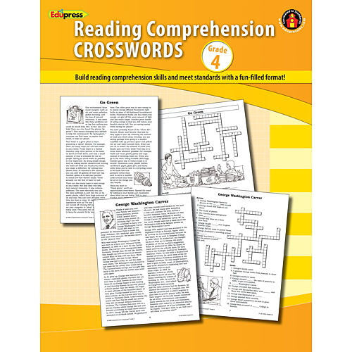 Reading Comprehension Crosswords, Grade 4 - EducationalLearningGames.com