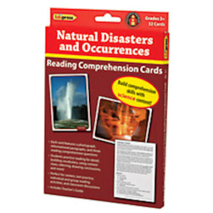 Reading Comprehension Science Cards, Natural Disasters & Occurrences