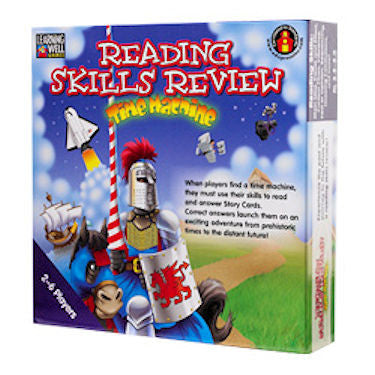 Reading Skills Review Time Machine Game, Blue Level - EducationalLearningGames.com