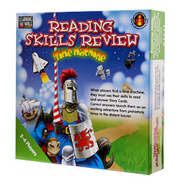 Reading Skills Review Time Machine Game, Green Level EducationalLearningGames.com