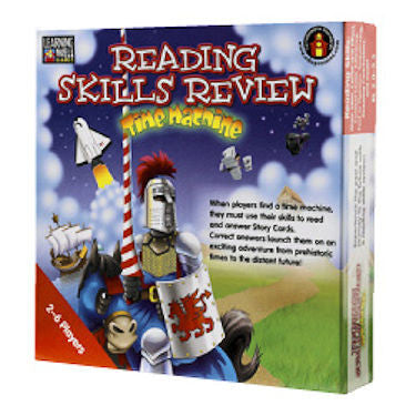 Reading Skills Review Time Machine Game, Red Level - EducationalLearningGames.com
