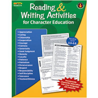 Reading and Writing Activities for Character Education Workbook - EducationalLearningGames.com
