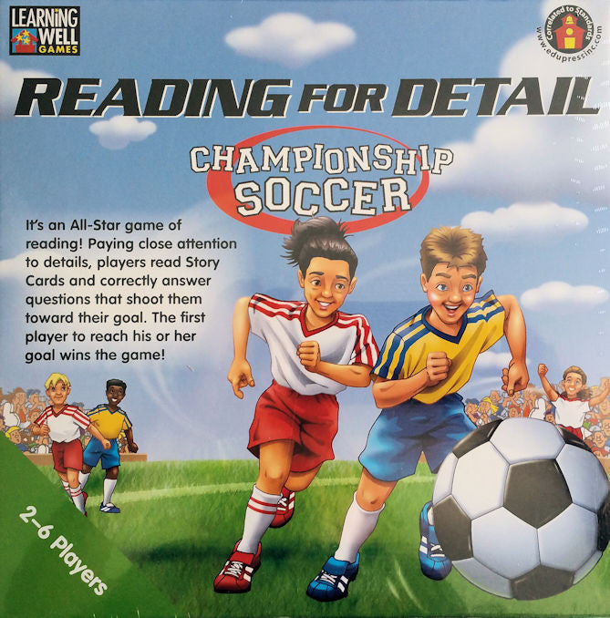 Reading for Detail Championship Soccer Game. Green Level - EducationalLearningGames.com