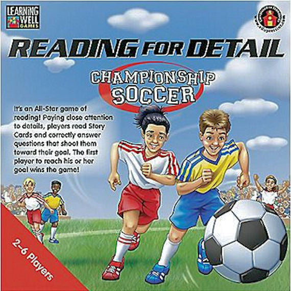 Reading for Detail Championship Soccer Game, Red Level - EducationalLearningGames.com