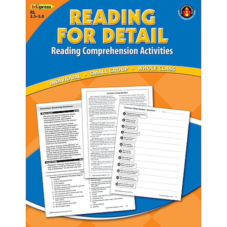Reading for Detail: Reading Comprehension Book, 3.5–5.0 EducationalLearningGames.com
