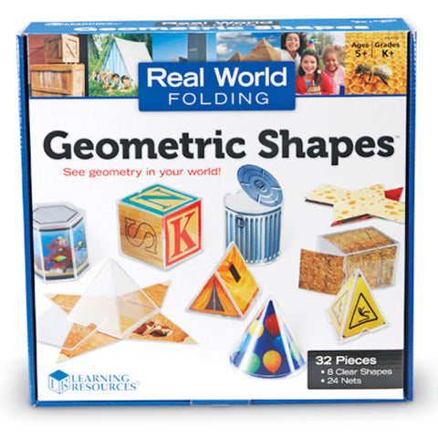 Real World Folding Geometric Shapes, Set of 8