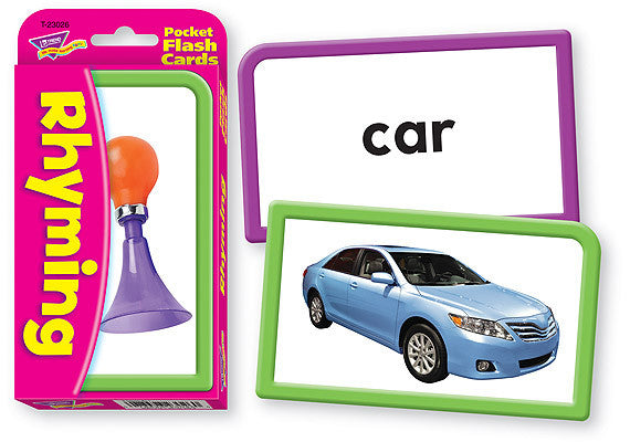 Rhyming Pocket Flash Cards - EducationalLearningGames.com