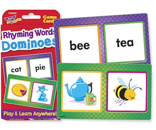 Rhyming Word Dominoes Challenge Flash Cards