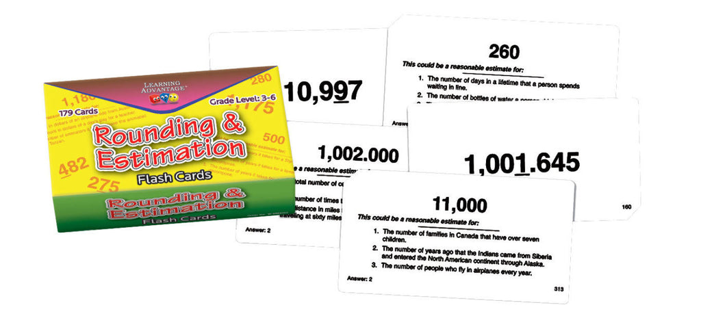 Rounding & Estimation Flash Cards