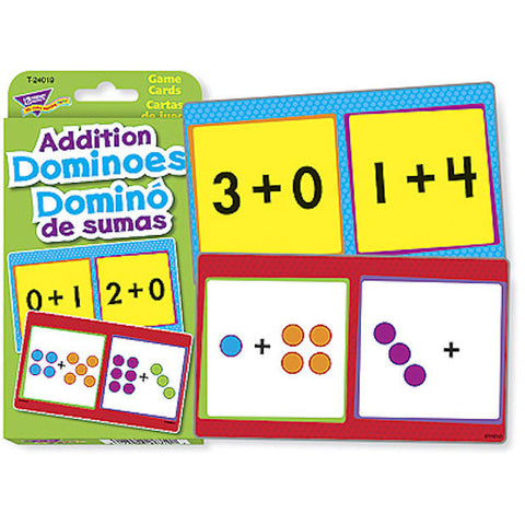SPANISH Addition Dominoes Pocket Flash Cards Domino De Sumas EducationalLearningGames.com