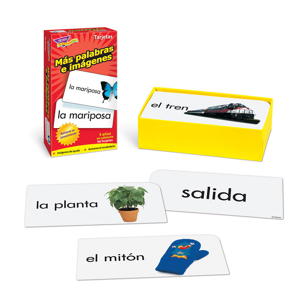 SPANISH Mas Palabras E Imagenes Skill Drill Flash Cards - EducationalLearningGames.com