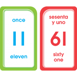 SPANISH Numbers 0 - 100 Numerous Pocket Flash Cards EducationalLearningGames.com
