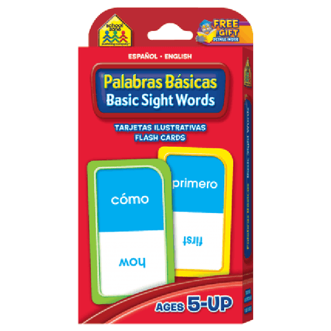 SPANISH Bilingual Beginning Sight Words Flash Cards