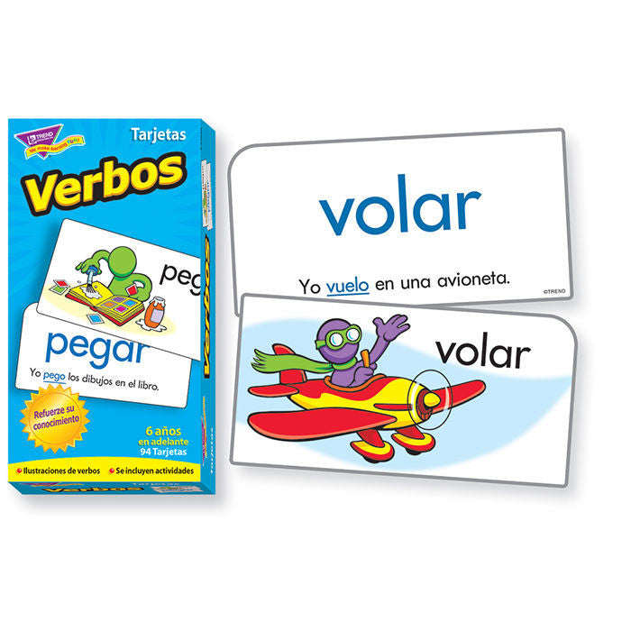 SPANISH Verbos Skill Drill Flash Cards - EducationalLearningGames.com