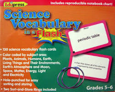 Science Vocabulary in a Flash Cards, Grades 5 - 6