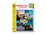 See the U.S.A. Workbook A Trip Through the Nifty 50 - EducationalLearningGames.com