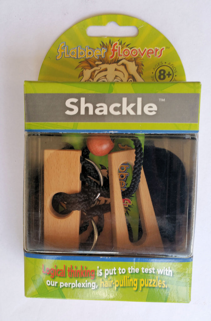 Shackle Wooden Brainteaser Flabber Floovers - EducationalLearningGames.com