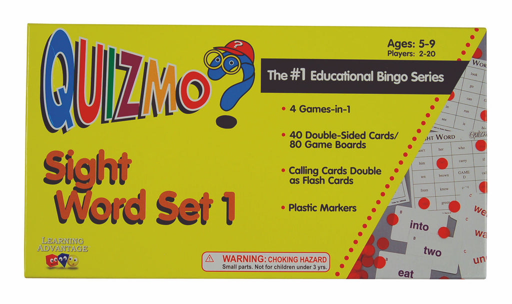 Sight Word QUIZMO Set 2