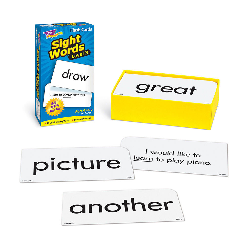 Sight Words Level 3 Skill Drill Flash Cards - EducationalLearningGames.com