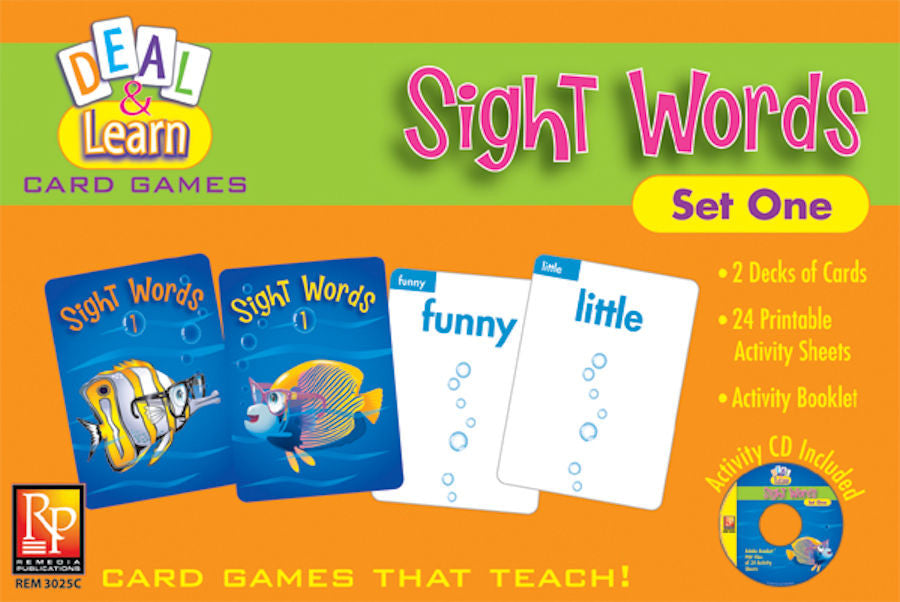 Deal & Learn Card Games Sight Words Set One