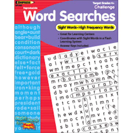Sight Words in a Flash Word Searches, Grade 4+  EducationalLearningGames.com