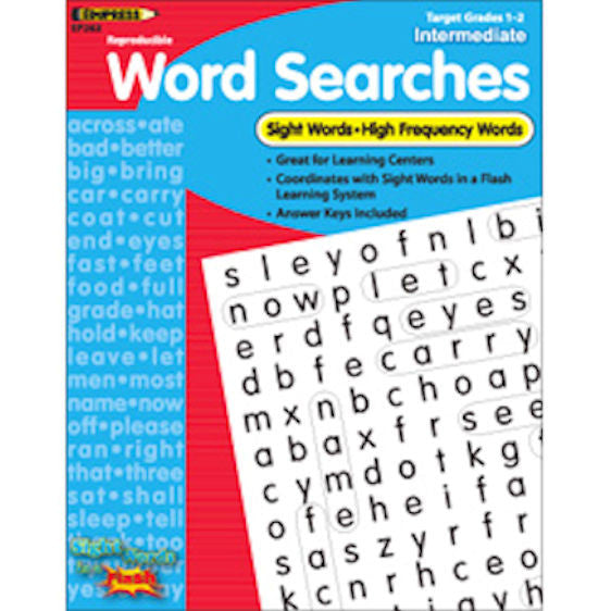 Sight Words in a Flash Word Searches, Grades 1–2  EducationalLearningGames.com