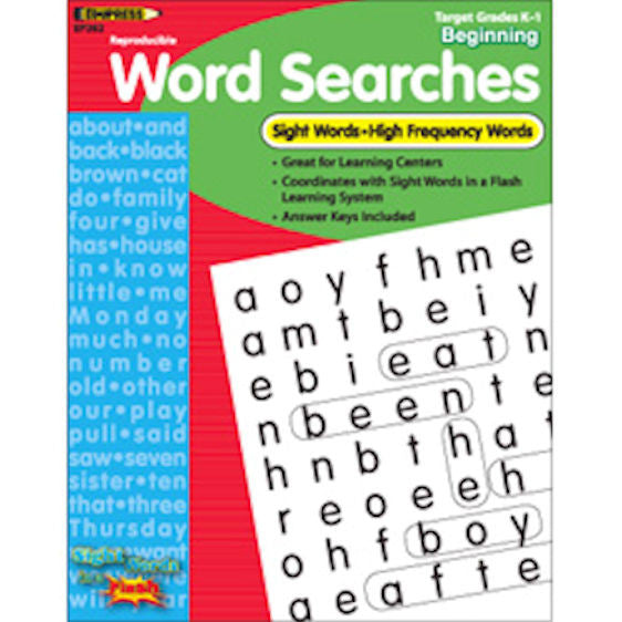 Sight Words in a Flash Word Searches, Grades K–1 EducationalLearningGames.com