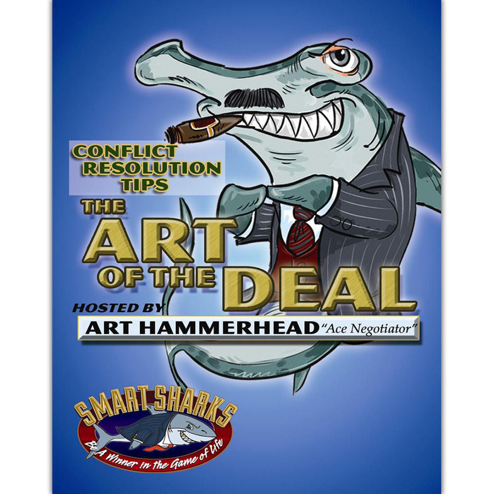 Smart Sharks Art of the Deal Conflict Resolution Card Game - EducationalLearningGames.com
