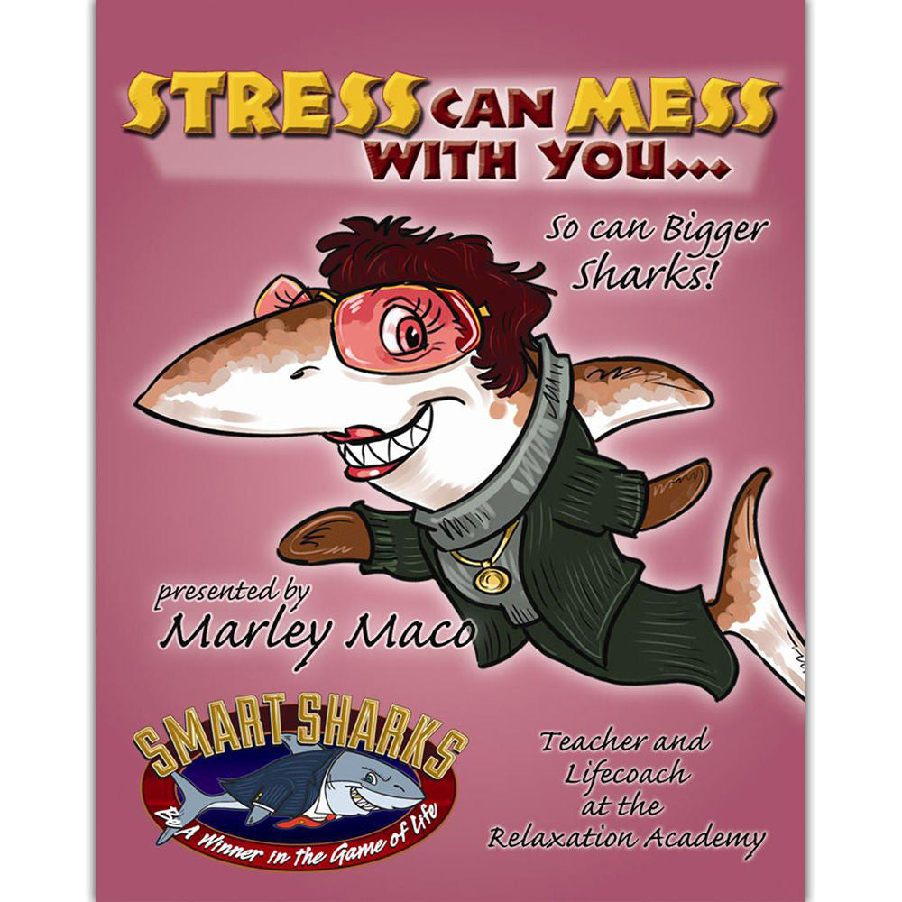 Smart Sharks STRESS Can Mess with You Card Game - EducationalLearningGames.com