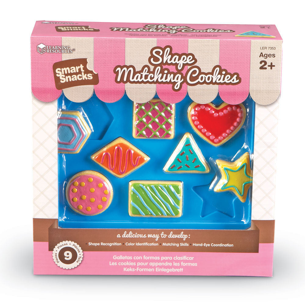 Smart Snacks Shape Matching Cookies - EducationalLearningGames.com