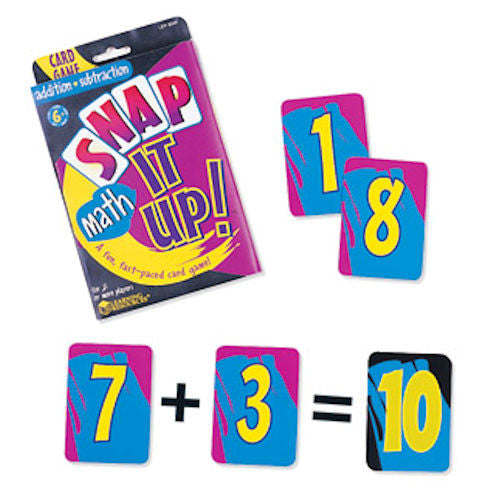 Snap it Up Addition & Subtraction Card Game - EducationalLearningGames.com