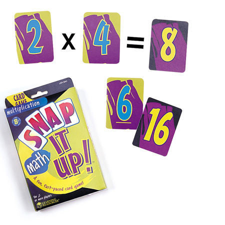 Snap it Up Math Multiplication Game - EducationalLearningGames.com