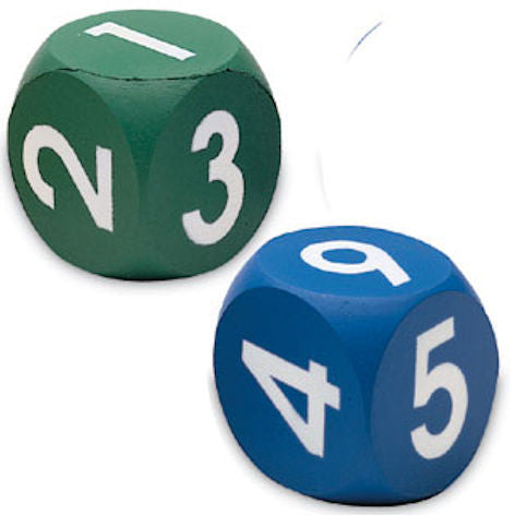 Numeral Dice Soft Foam Dice, Set of 2