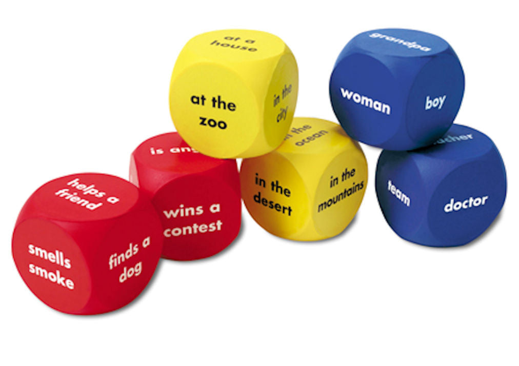 Soft Foam Story Starters Picture Cubes, Set of 6