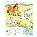 Spanish Bilingual Counting 1-10 Deluxe Edition Workbook for Kids - EducationalLearningGames.com