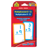 Spanish Bilingual Multiplication 0-12 Flash Cards EducationalLearningGames.com