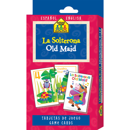 Spanish Bilingual Old Maid Flash Cards - EducationalLearningGames.com