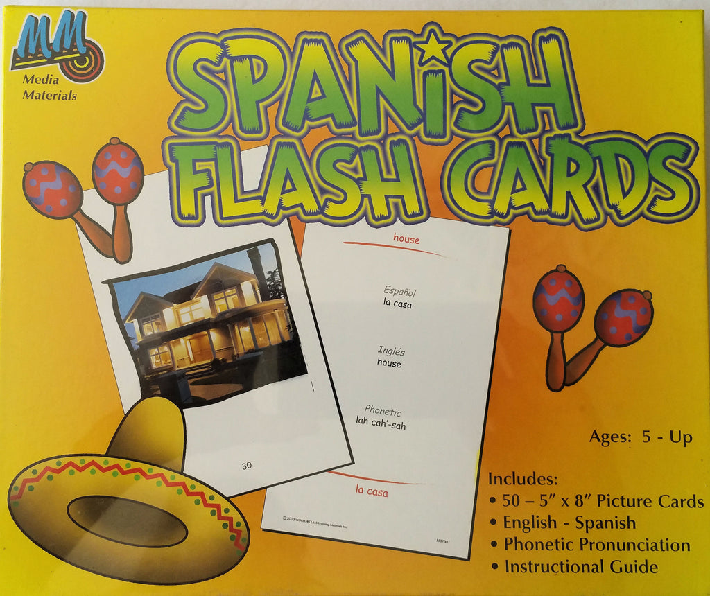 Spanish Large Flash Cards - EducationalLearningGames.com