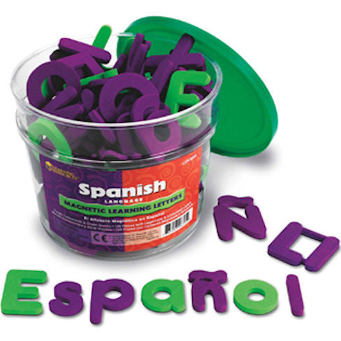 Spanish Magnetic Foam Learning Letters - EducationalLearningGames.com