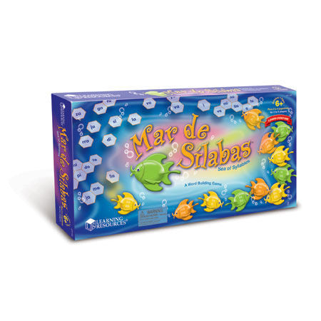 Spanish Mar de Sílabas Sea of Syllables Game - EducationalLearningGames.com