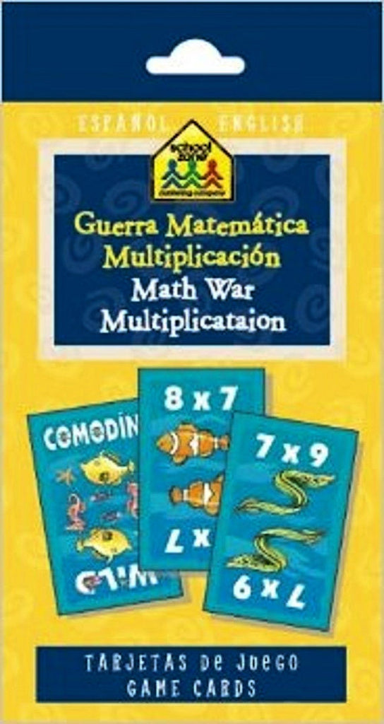 Spanish Math War Multiplication Flash Cards - EducationalLearningGames.com