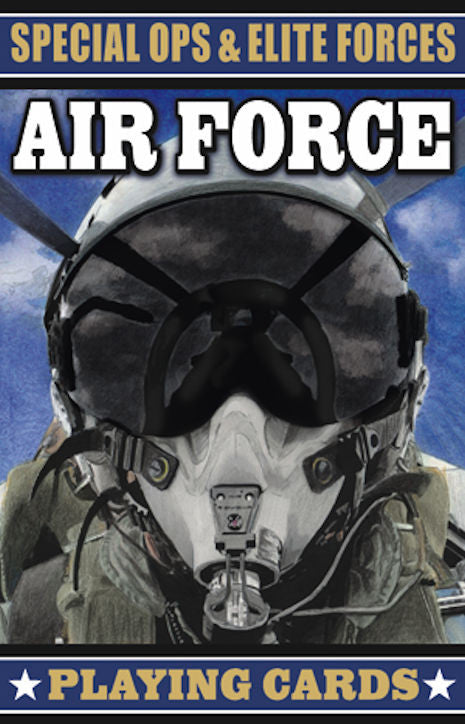 Special Ops and Elite Forces Air Force Playing Cards - EducationalLearningGames.com