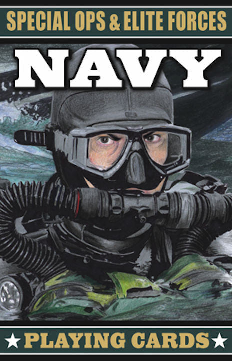 Special Ops and Elite Forces Navy Playing Cards - EducationalLearningGames.com