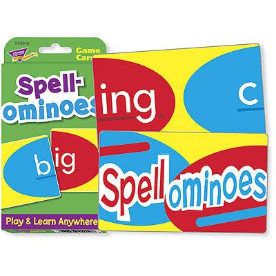 Spellominoes Word Game Challenge Cards - EducationalLearningGames.com