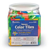 Square Color Tiles, Set of 400, 4 Bright Colors