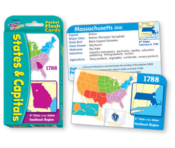 States and Capitals Flash Cards - EducationalLearningGames.com