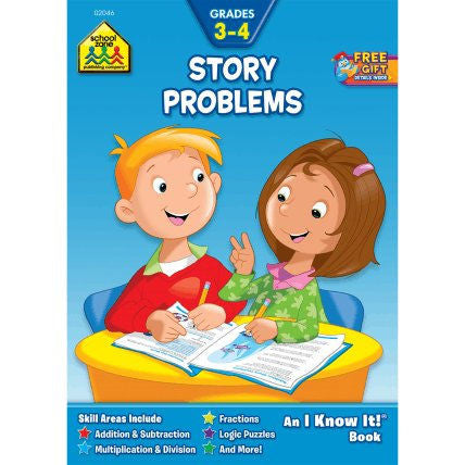 Story Problems Grades 3-4 Workbook - EducationalLearningGames.com